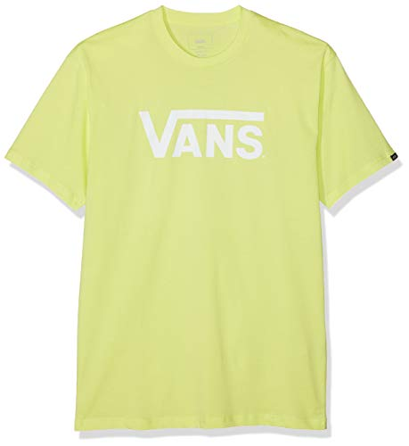 Vans Classic Camiseta, Amarillo (Sunny Lime-White Tjz), Large para Hombre