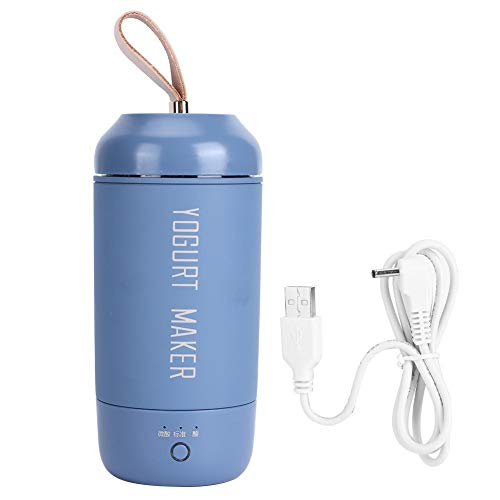 Atyhao Yogurt Makers, multifunción Totalmente automática Mini portátil Yogurt Maker USB Recargable Yogurt Machine para Uso doméstico(Azul)
