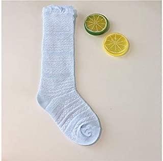 Lovely Socks Girls Children Cotton Socks Kids Summer Lace Mid Tube Socks (Pink) Newborn Sock (Color : Blue)