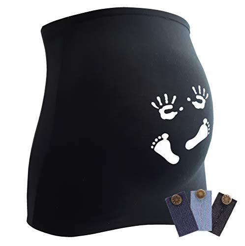 Bandeau de grossesse, accessoire astucieux pour femmes enceintes, disponible en différents coloris et tailles - Noir - 40/44