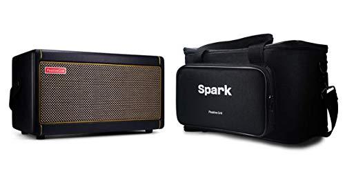 Positive Grid Spark Gitarrenverstärker Bag Bundle: 40 Watt E-Gitarre, Bass und akustischer Combo-Verstärker mit mobiler App und maßgeschneiderter Tragetasche