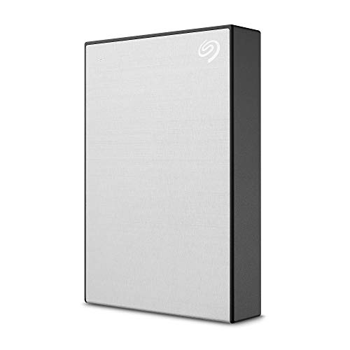 Seagate One Touch 4TB External Hard Drive HDD – Silver USB 3.0 for PC Laptop and Mac, 1 Year MylioCreate, 4 Months Adobe Creative Cloud Photography Plan (STKC4000401)