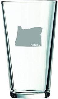Oregon-State Outline-16 oz. Pint Glass