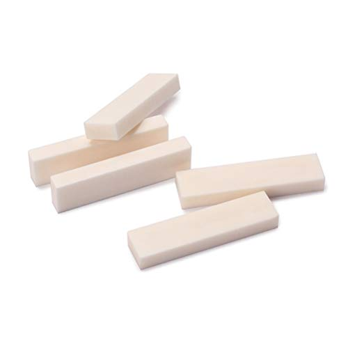 Healifty 5 piezas guitarra cuerda puente tuerca silla hueso blanco diy para...