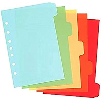 W21510 5.5 x 8.5 Inches Wilson Jones 5-Tab Mini Dividers Assorted Colors