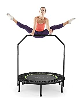 ANCHEER Foldable 40 Mini Trampoline Rebounder Max Load 300lbs Rebounder Trampoline Exercise Fitness Trampoline for Adults Kids Indoor/Garden/Workout Cardio