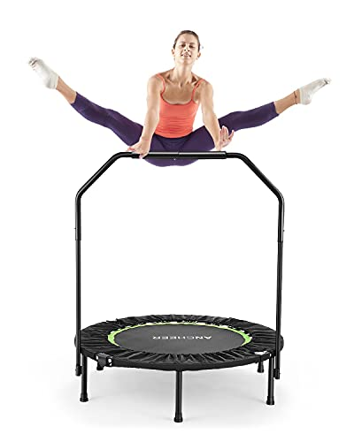 ANCHEER Foldable 40' Mini Trampoline Rebounder, Max Load 300lbs Rebounder Trampoline Exercise Fitness Trampoline for Adults Kids Indoor/Garden/Workout Cardio