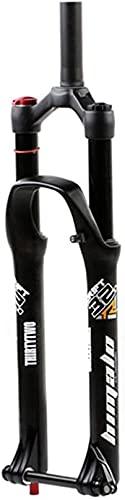 WYJW Horquilla de suspensión de Bicicleta MTB 26/27.5/29 Pulgadas Horquillas Delanteras de Bicicleta de montaña Horquilla de Freno de Disco 32 con Ajuste de Rebote 110 mm Recorrido 1-1/8'H