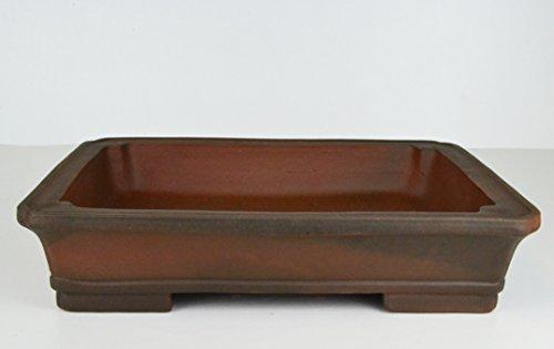 Unglazed 17' Retangularr Ceramic Antique Finish Bonsai Pot (k7-17)