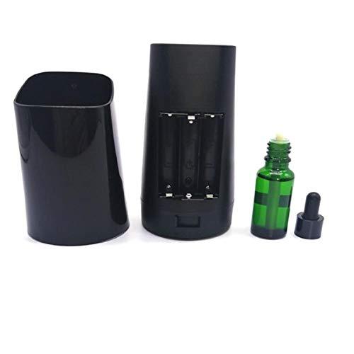 Difusor de Aroma humidificador ABS Gran cantidad de Niebla de Escritorio silencioso intervalo La definición Oficina Habitación Sala 1 Pieza Blanca (Color : Black)