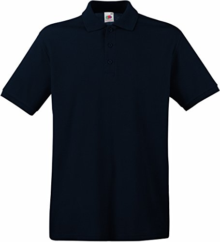Fruit of the Loom Herren Poloshirt SS035M 3XL,Deep Navy