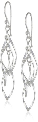 Sterling Silver Twisted Triple Drop Earrings - http://coolthings.us