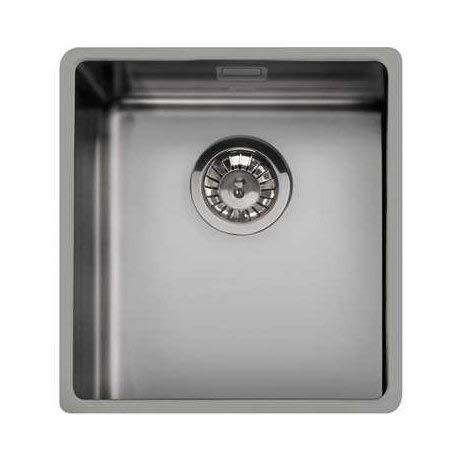 SMEG VSTR34DKX Mira - Fregadero de cocina colgante de acero inoxidable, color plateado envejecido