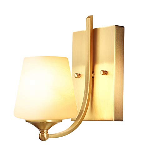 LED wandlamp stijl koper nachtkastje spiegel vooraan slaapkamer studie woonkamer TV achtergrond muur gang wandlamp