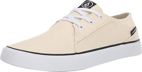 Volcom Herren Lo Fi Fashion Sneaker Skate Schuh, Wei (Natur), 39 EU