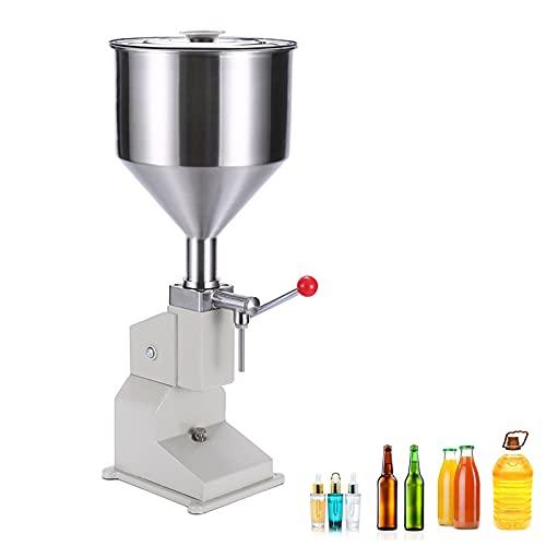 DUTUI Máquina De Llenad Líquidos, Máquina Llenado Crema, Máquina Llenado Miel Champú En Crema con Brillo De Labios Aceite Cosmético, 2-50Ml