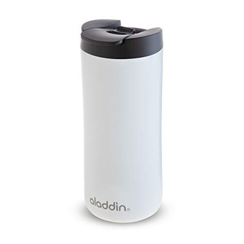 Aladdin Leak-Lock Thermavac Stainless Steel Travel Mug 0.35L Weiß – Auslaufsicherer Thermobecher - Doppelwandige Vakuumisolierung - Hält 3 Stunden Heiß - BPA-Frei - Spülmaschinenfest