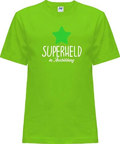 Kleckerliese Nicki T-shirt à manches courtes pour bébé et fille Motif super héros - Vert - 2 ans