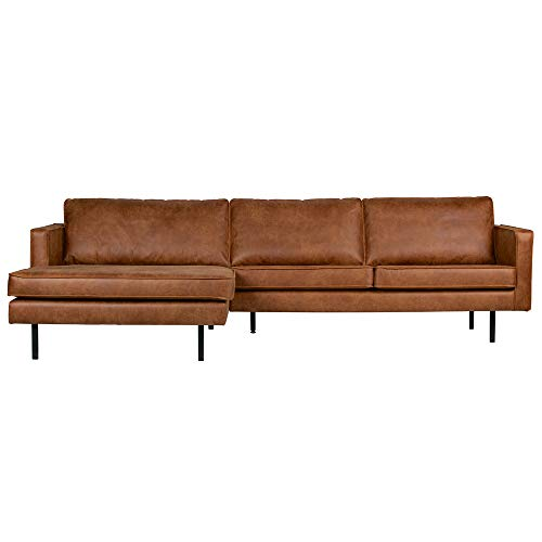 Eckgarnitur Rodeo Leder Cognac Couch Sofa Ecksofa Ledercouch Longchair Links