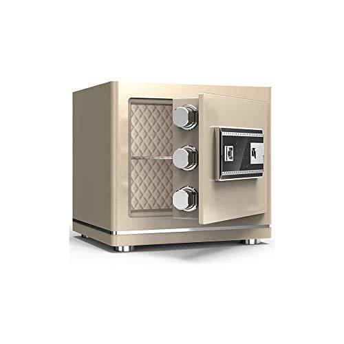 CHUXJ Caja Fuerte Digital for la seguridad del bloqueo de seguridad de clave y contraseña de seguridad de contraseña de autenticación de huellas digitales 3C hogar pequeño y elegante caja de seguridad