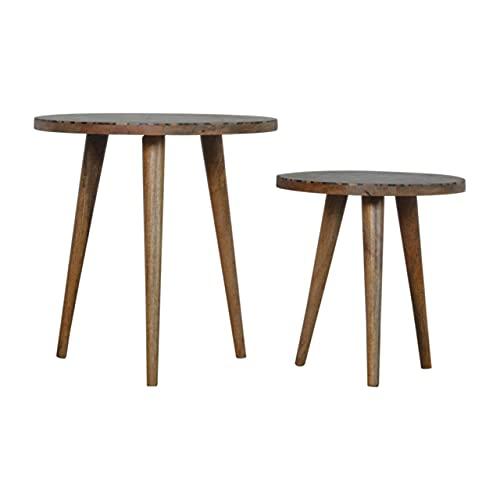 Artisan Furniture Set mit 2 Hockern, Holz, Einheitsgröße