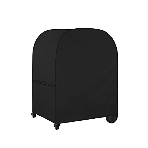 Dokon Barbecue Cover with Adjustable Side Straps, Premium BBQ Cover Waterproof, Windproof, Anti-UV, Heavy Duty Rip Proof 600D Oxford Fabric Outdoor Gas Grill Cover (105x50x103cm)-Black