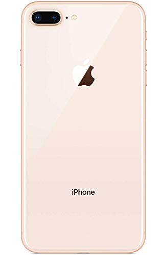Original iPhone 8 Plus Akkudeckel für die Rückseite, mit Klebstoff, eingebauter Kamerarahmen mit Objektiv (Gold)