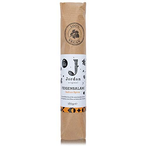 Jordan Original – Feigensalami Indian Spice 180 g 100% vegane Wurst aus getrockneten griechischen Feigen
