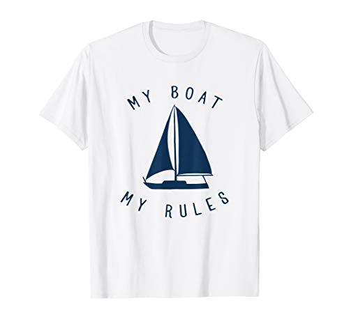 Funny My Boat My Rules - Captain Sea Sailing Boating T-Shirt