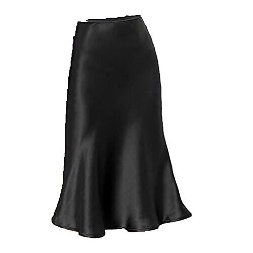 N\P Faldas largas para mujer, de verano, casuales, cómodas, de talle alto