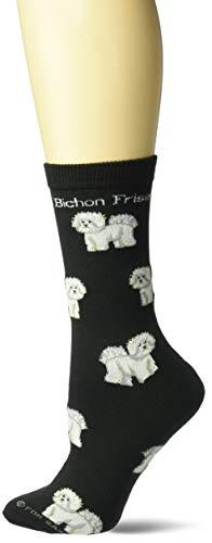 For Bare Feet Women's FBF Originals Novelty Dog Socks, Bichon Frise Poses, Medium