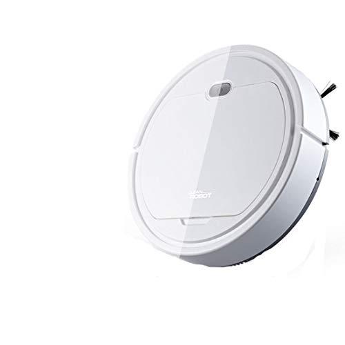 Gmjay Robot Aspirador 3 en 1 Robot Limpiafondo Home Intelligence Robot Viene con Cable de Carga USB Blanco