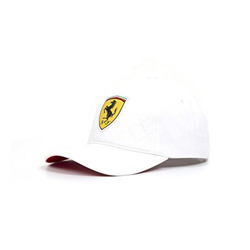 Scuderia Ferrari Formel 1 2018 weiß gesteppte Mütze