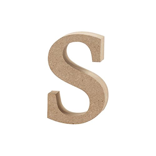 Lettre, h: 8,5 cm, épaisseur 2 cm, MDF, s, 1pièce