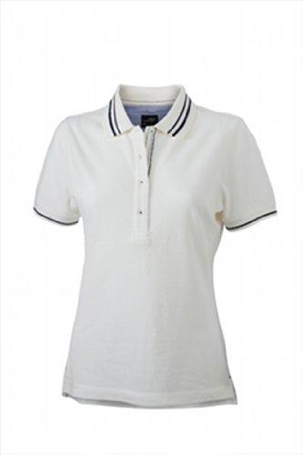 James & Nicholson Damen Poloshirt Ladies' Lifestyle Medium off-white/navy