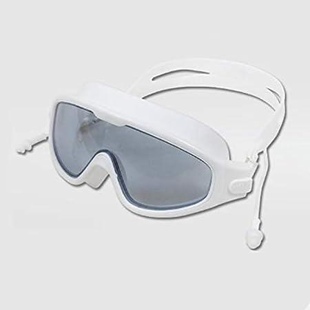 Gafas natacion Frame Gafas De Natación Grande Prueba De Agua Anti-vaho Gafas De Natación De Alta Definición Con Tapones For Los Oídos Integrado De La Protección Auditiva Profesional De Buceo Gafas De