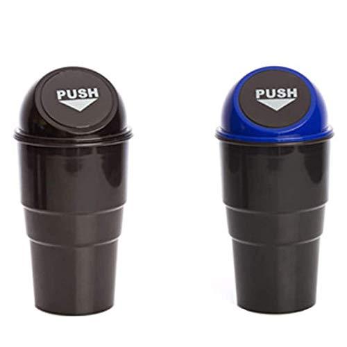 Bote de basura para auto (2 piezas), Contenedor de basura plástico, bebidas Reposador de basura para auto Basura Caja para el polvo de basura Escritorio de oficina