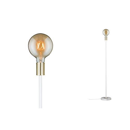 Paulmann 79615 Neordic Nordin Stehleuchte max. 1x20W Stehlampe für E27 Lampen Standleuchte Weiß/Gold matt 230V Marmor/Metall ohne Leuchtmittel