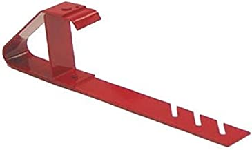 Qualcraft 2502 Adjustable Heavy Duty Fixed Bracket, for Use with Sideguard Or Material Support On Low Slope Roofs, Powder Coated Red