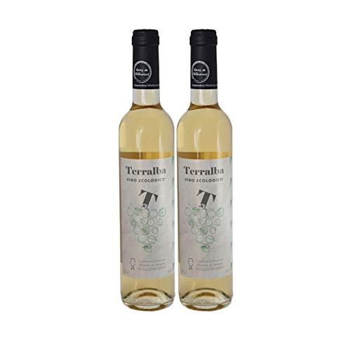 Vino Blanco Ecologico Terralba de 50 cl - Elaborado en Cadiz - Cooperativa Vitivinicola Albarizas de Trebujena (Pack de 2 botellas)