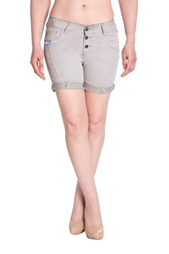 Blue Monkey Damen Jeans Shorts BM3415- Grau Size 28