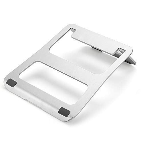 XIAOWEI Laptop Stand Aluminum Alloy Laptop HolderFoldable Portable Sofa Bed Laptop Stand No-SlipNotebook Holder for Heat Dissipation for MacBook PC Desk Matebook Computer Tablet Silver 26.5 by 21 cm