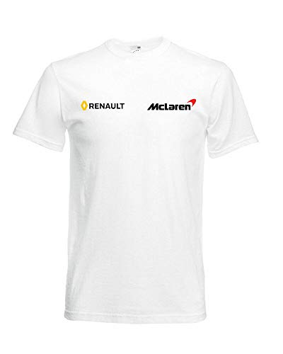New McLaren Renault F1 Team T-Shirt tee Alonso Fans Racing Driver Logo Men's USA
