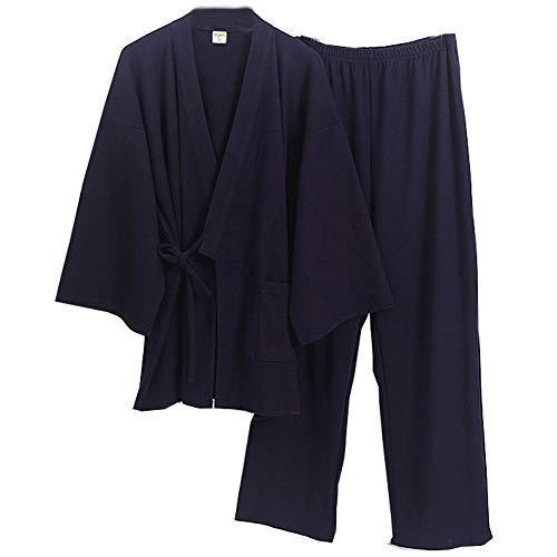Kimono para Hombre Pijamas Tamaño Grande Bata Camisón Talla XL-01