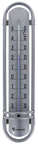 Lantelme Termometro da esterno in alluminio, 38 cm, per esterni, giardino, interni, balcone, in alluminio, 8018