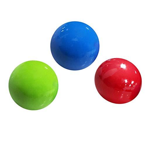 Alacritua Fluoreszierende Klebrige Wand Ball, Stressabbau Bälle Klebebälle Leuchtend Sticky Globbles Ball,Farbe Klebriger Zielball, 1/3/6 St (Zufällige Farbe)