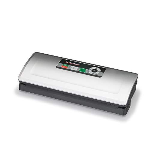 GASTROBACK #46008 Design Vakuumierer Plus, zwei Betriebsarten, vollautomatisch und manuell, 4 Funktionen (dry, moist, soft, delicate), bis 0,75 bar/Vakuumierleistung 9 L/Min, 120 Watt