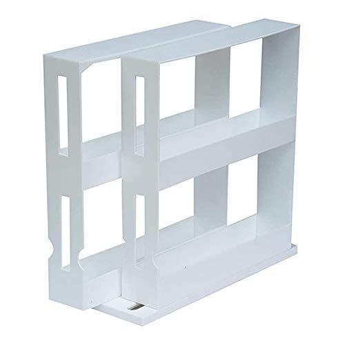 Multi-Function Rotating Storage Rack Double Layer Kitchen Spice Organizer Extendable Jar Holder Bottle Shelf