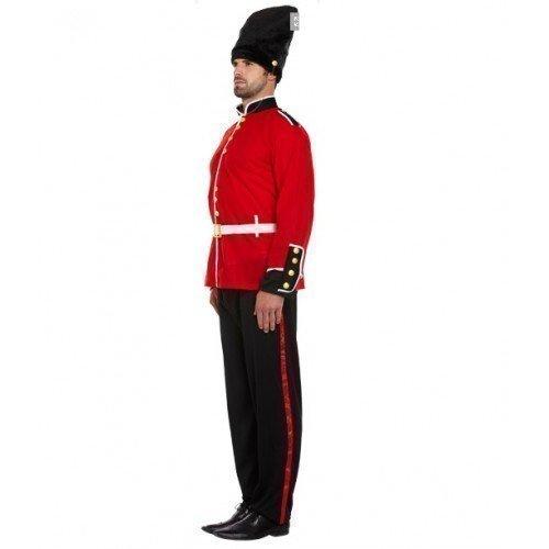Fancy Me Adultes Hommes Rouge Noir Londres Garde Anglais Soldat armée Costume déguisement