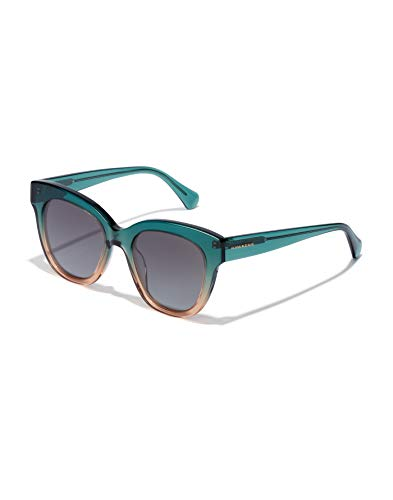 HAWKERS Gafas de Sol Audrey Estilo Butterfly, para Mujer, con Montura Degradada Bicolor Verde y Champán y Lente Gris, Protección UV400, Green · Champagne, One Size Unisex Adulto